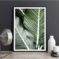 Poster mit Bilderrahmen Palmenblätter: modern  von K&L Wall Art,Modern Papier