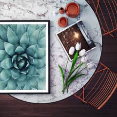 Poster mit Bilderrahmen Agave 02: modern  von K&L Wall Art,Modern Papier