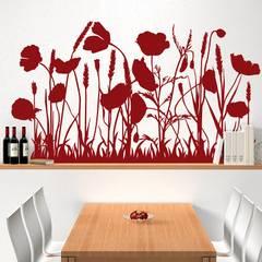 Wandtattoo Mohnwiese: modern  von K&L Wall Art,Modern Kunststoff Braun