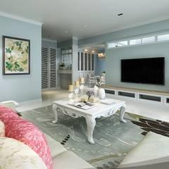 宇聖空間設計:  客廳 by iDiD點一點設計