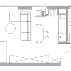 Rzut: styl , w kategorii Ściany zaprojektowany przez Kraupe Studio