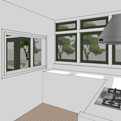 verbouw klassieke villa:  Keuken door De E-novatiewinkel, Klassiek Hout Hout