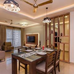 Apartment Interior Design Bangalore 4BHK: Living Room By Design Arc  Interiors