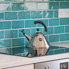Vibrant Ceramic Tile Splashback :  Kitchen by ADORNAS KITCHENS