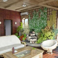 Коттедж 204м2: Зимние сады в . Автор – Первое Дизайн-Бюро,