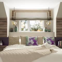 Коттедж в Энгельсе (150 кв.м): Спальни в . Автор – ДизайнМастер
