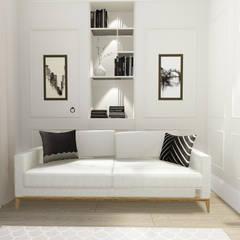 apartment:  Bedroom by KOKON zespół architektoniczny,Eclectic