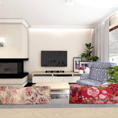 CREME DE LA CREME: styl , w kategorii Salon zaprojektowany przez Kołodziej & Szmyt Projektowanie wnętrz