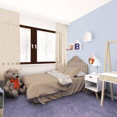 Dormitorios infantiles de estilo  de Kołodziej & Szmyt Projektowanie wnętrz