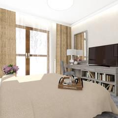 CREME DE LA CREME: styl , w kategorii Sypialnia zaprojektowany przez Kołodziej & Szmyt Projektowanie wnętrz