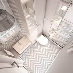 CREME DE LA CREME: styl , w kategorii Łazienka zaprojektowany przez Kołodziej & Szmyt Projektowanie wnętrz