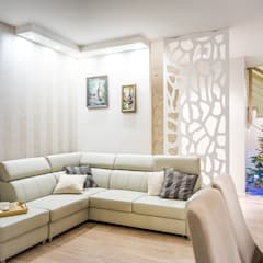 2-poziomowe mieszkanie: styl , w kategorii Salon zaprojektowany przez Perfect Space