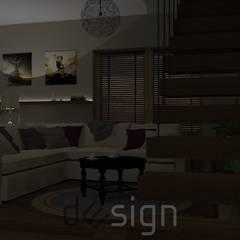 Włochy | Wizualizacje: styl , w kategorii Salon zaprojektowany przez DW SIGN Pracownia Architektury Wnętrz