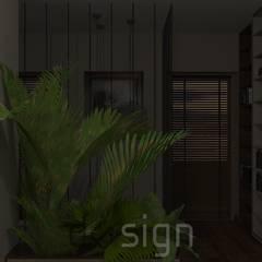 Włochy | Wizualizacje: styl , w kategorii Korytarz, przedpokój zaprojektowany przez DW SIGN Pracownia Architektury Wnętrz
