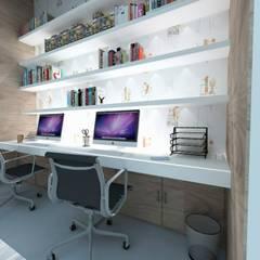 : Estudios y oficinas de estilo  por TAMEN arquitectura