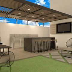 بالکن،ایوان وتراس by TAMEN arquitectura