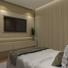 Apartamento Buritis: Quartos  por Nayla Diniz Arquitetura,Moderno
