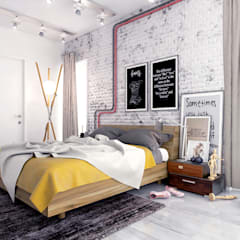 Industrial Bedroom - Russia 2014:  Bedroom by Ammar Bako design studio