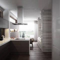 Дом у большой воды: Кухни в . Автор – премиум интериум