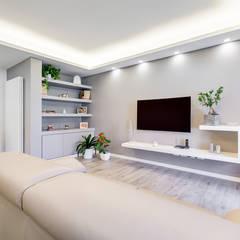 Colleverde_minimal design: Soggiorno in stile in stile Moderno di EF_Archidesign