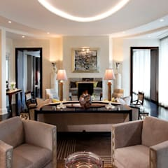 Art Deco Inspired Home:  Living room by Douglas Design Studio