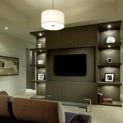 Modern Family:  Media room by Douglas Design Studio,