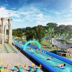 Paraiso Aquapark: Piscinas de estilo  por Arquitectura y Diseño Digital