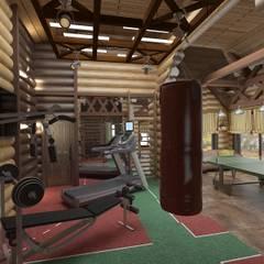 Дом из бревна : Тренажерные комнаты в . Автор – De Style