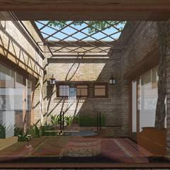 CASA BA: Jardines de invierno de estilo  por ARBOL Arquitectos