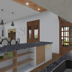 CASA BA: Cocinas de estilo  por ARBOL Arquitectos ,Rústico