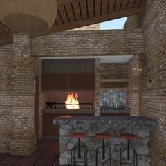 CASA BA: Jardines de estilo  por ARBOL Arquitectos