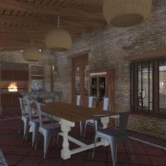 CASA BA: Terrazas de estilo  por ARBOL Arquitectos