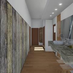 CASA BA Pasillos, vestíbulos y escaleras rústicos de ARBOL Arquitectos Rústico