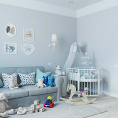 minimalistic Nursery/kid's room by OM DESIGN