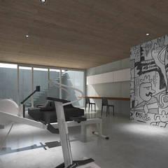 Landrover huis:  Fitnessruimte door Lab32 architecten,
