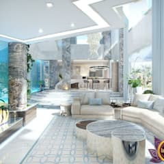 Luxury Modern Interior of Katrina Antonovich:  Corridor & hallway by Luxury Antonovich Design