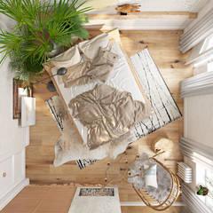Вид сверху: Спальни в . Автор – Анна Морозова