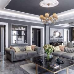 VERO CONCEPT MİMARLIK – Villa Balıkesir:  tarz Oturma Odası