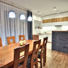 Mieszkanie Dąbrowa Górnicza: styl , w kategorii Jadalnia zaprojektowany przez MARTA PAWLAK  ARCHITEKTURA  WNĘTRZ