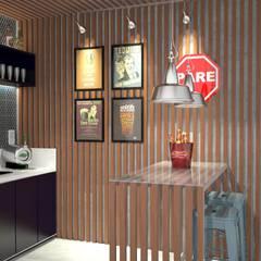 Varanda Gourmet: Terraços  por Bruna Rodrigues Designer de Interiores