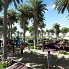 Fundo Palmarito: Jardines de estilo  por ARQUITECTO JUAN ANDRES GUTIERREZ PEREZ