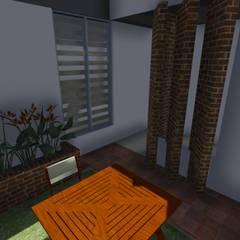 Casa Flor Amarillo: Jardines de estilo  por ARQUITECTO JUAN ANDRES GUTIERREZ PEREZ