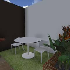Casa Flor Amarillo: Jardines de estilo minimalista por ARQUITECTO JUAN ANDRES GUTIERREZ PEREZ