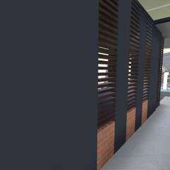 Casa Los Cerros: Pasillos y vestíbulos de estilo  por ARQUITECTO JUAN ANDRES GUTIERREZ PEREZ