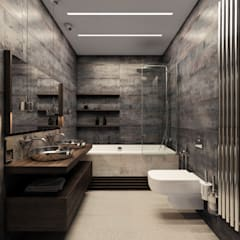 Bathroom by homify, Industrial Tiles