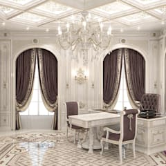 ​Office interior design of Katrina Antonovich:  Study/office by Luxury Antonovich Design
