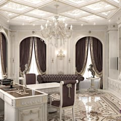 ​Office interior design of Katrina Antonovich: classic Study/office by Luxury Antonovich Design
