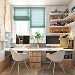 Arbeitszimmer von Дарья Баранович Дизайн Интерьера