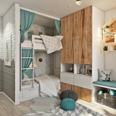 ห้องนอนเด็ก by Дарья Баранович Дизайн Интерьера