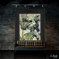 Exotic -Variation Framed- Wallpaper:  Muren door La Aurelia